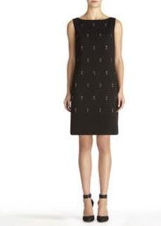 Sleeveless Embellished Shift Dress