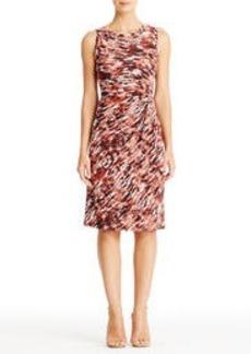 Sleeveless Matte Jersey Dress with Side Tie