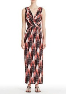 Sleeveless Maxi Dress with Crisscross Bodice