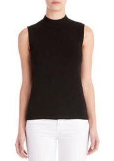 Sleeveless Mock Neck Pullover