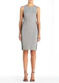 Sleeveless Ponte Jacquard Woven Sheath Dress