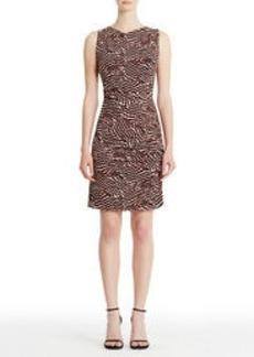 Sleeveless Print Jersey Sheath Dress