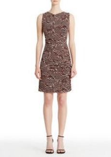 Sleeveless Print Jersey Sheath Dress