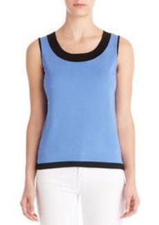 Sleeveless Scoop Neck Shell