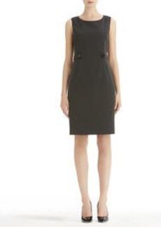 Sleeveless sheath Dress with Waist Tabs