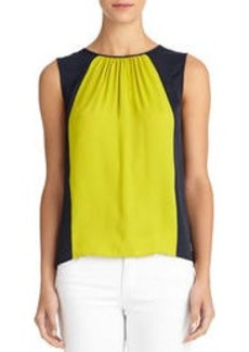 Sleeveless Shell with Gathered Neckline (Plus)
