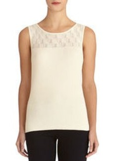 Sleeveless Shell with Plaited Top (Petite)