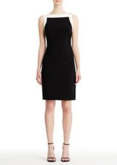Sleeveless Side-Ruched Sheath Dress (Plus)