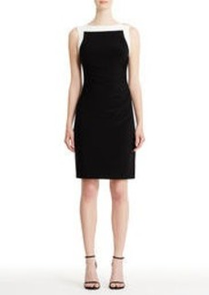 Sleeveless Side-Ruched Sheath Dress (Plus)