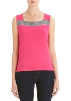 Square Neck Sleeveless Shell