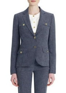 Stretch Blazer with Trapunto Stitching