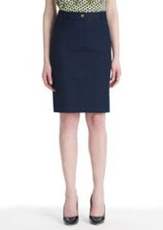 Stretch Cotton A-Line Skirt