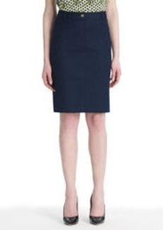 Stretch Cotton A-Line Skirt