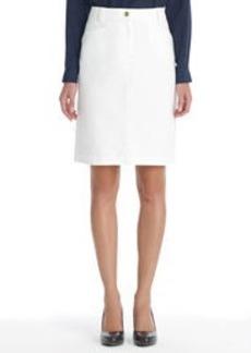 Stretch Cotton A-Line Skirt (Petite)