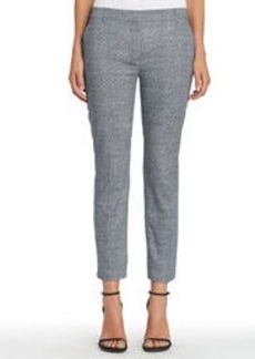 Stretch Cotton Ankle Pants with Side Vents