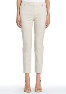 Stretch Cotton Ankle Pants with Side Vents (Plus)