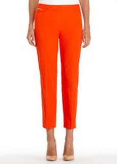 Stretch Cotton Cropped Pants