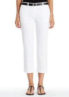 Stretch Cotton Cropped Pants