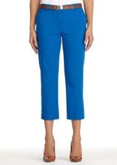 Stretch Cotton Cropped Pants (Petite)