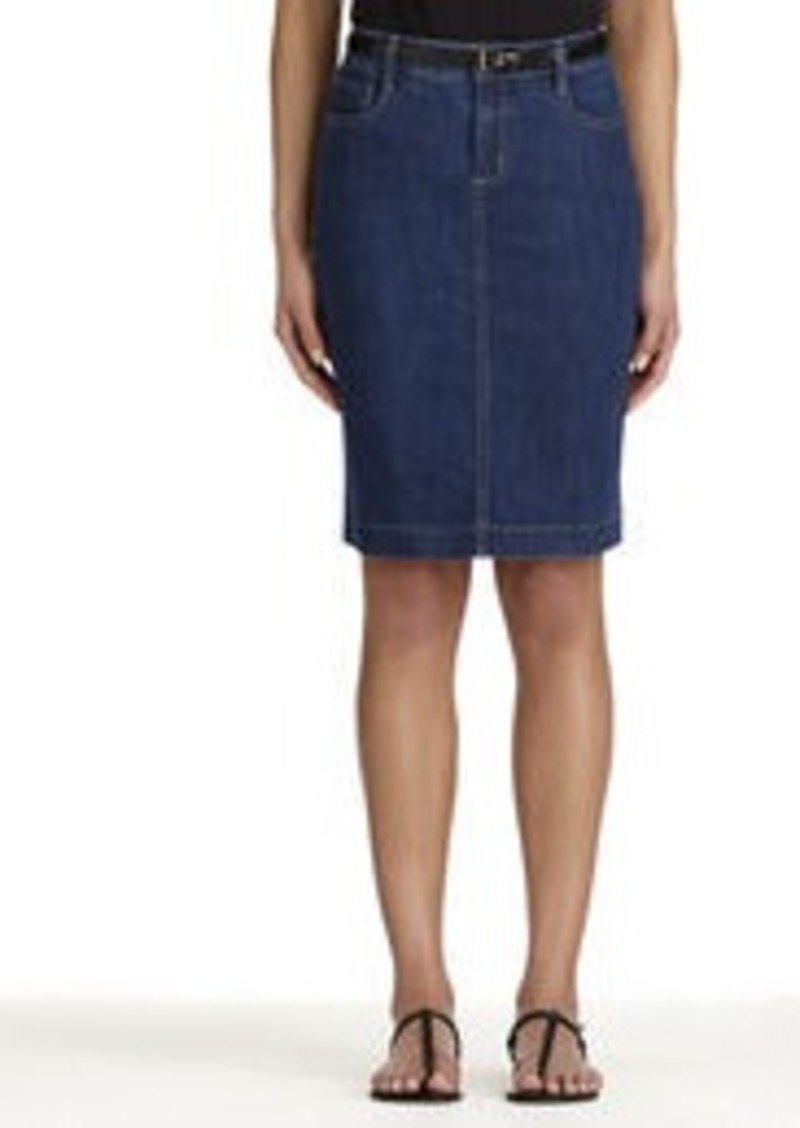 Stretch Cotton Denim Skirt