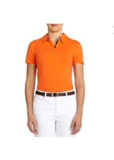Stretch Cotton Jersey Polo Shirt (Plus)