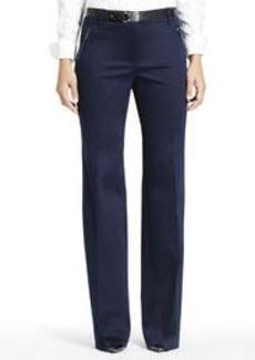 Stretch Cotton Sateen Pants (Plus)