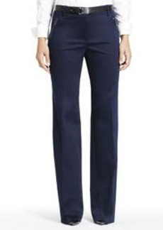 Stretch Cotton Sateen Pants (Plus)