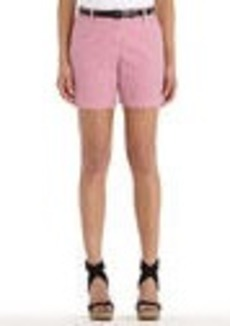 Stretch Cotton Seersucker Short Shorts