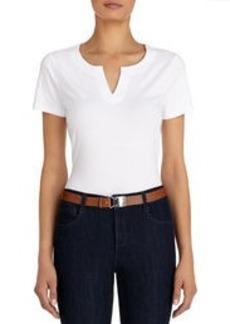 Stretch Cotton Short Sleeve Crew Neck Tee Shirt (Plus)