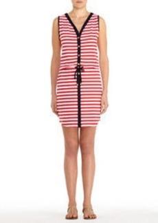 Stretch Cotton Sleeveless V-Neck Dress
