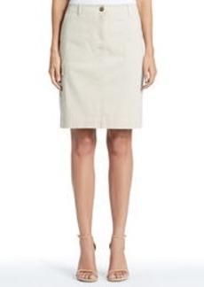 Stretch Cotton Utility Skirt
