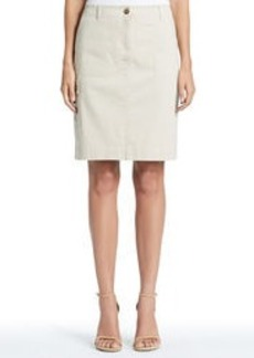 Stretch Cotton Utility Skirt