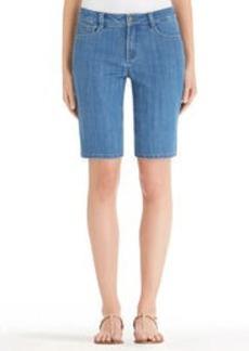 Stretch Denim Shorts (Plus)