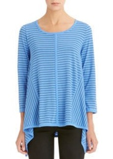 Stripe Asymmetrical Top (Plus)