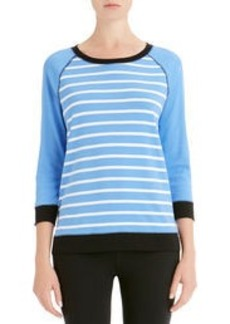 Stripe Pullover with Raglan Sleeves (Petite)
