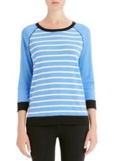 Stripe Pullover with Raglan Sleeves (Petite)