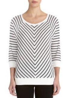 Stripe Pullover with Raglan Sleeves (Plus)