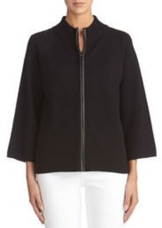 Swing Jacket with Zip Front
