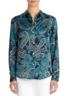 Taylor Long Sleeve Paisley Shirt (Petite)