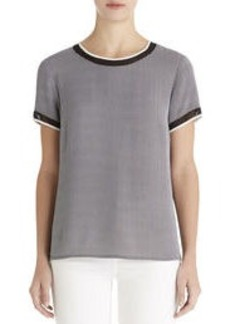 Tee Shirt with Sheer Inserts