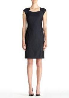 The Brooke Dressy Denim Bolero Neck Dress