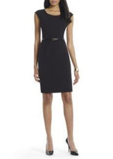 The Brooke Sheath Dress with Cap Sleeves (Petite)