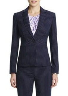 The Emma Classic Pinstripe Jacket with Seamed Waist