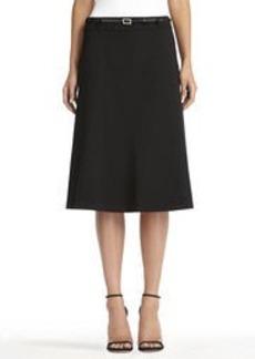 The Isabel Seasonless Stretch Black Boot Skirt (Petite)
