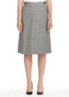 The Isabel Twill Skirt with Buckle