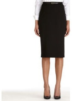 The Jacquelyn Seasonless Stretch Black Pencil Skirt