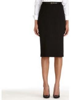 The Jacquelyn Seasonless Stretch Black Pencil Skirt