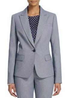 The Julia Jacket in Birdseye Weave (Plus)