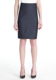 The Lucy Dressy Denim Pencil Skirt