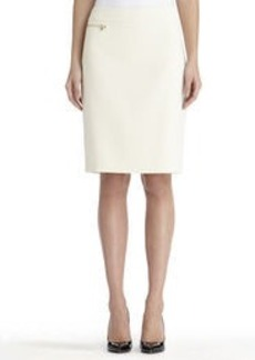The Lucy Pencil Skirt with Zip Detail